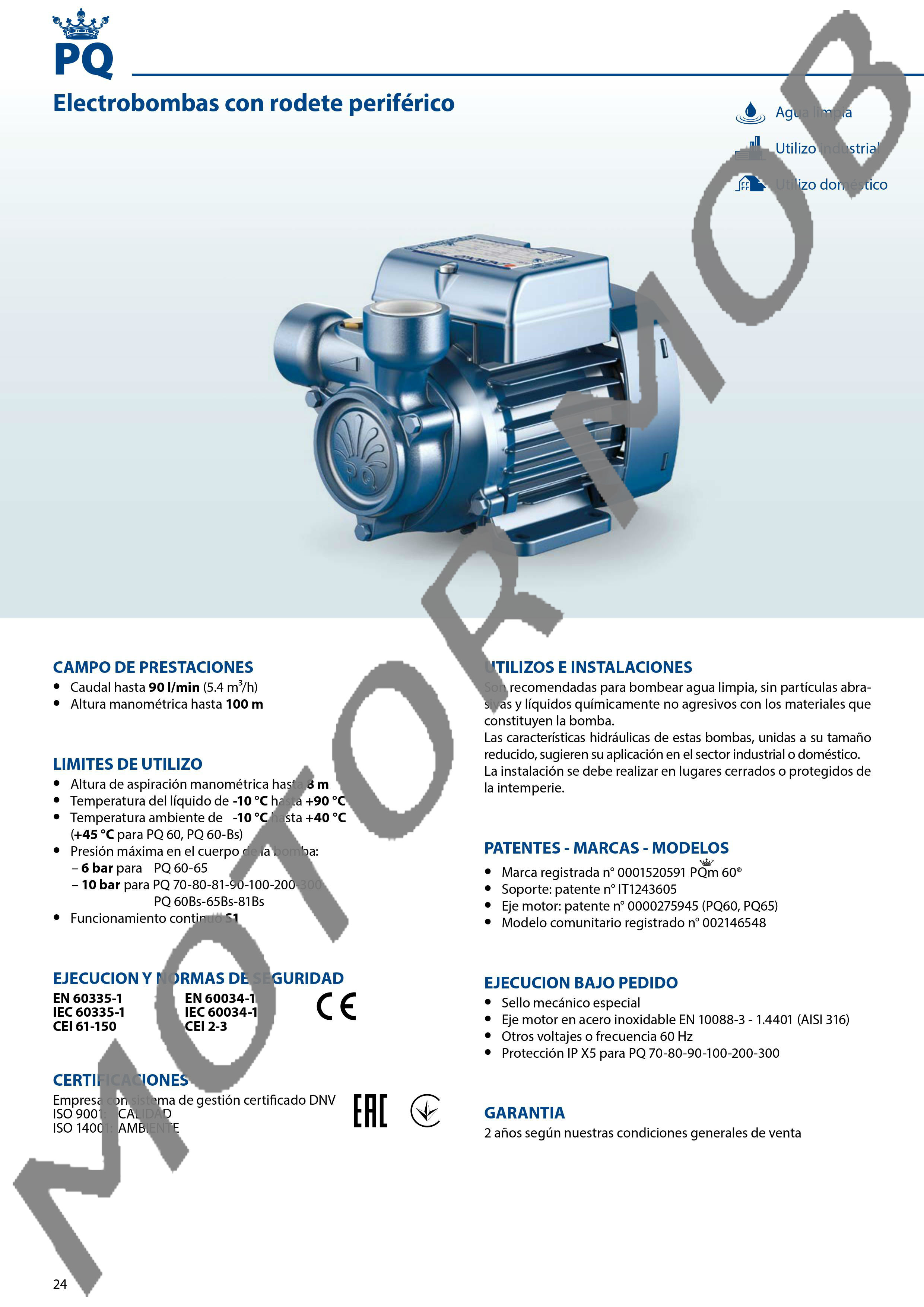 ELECTROBOMBA PERIFERICA PEDROLLO PQ 200 2 HP TRIFASICA – PRECIO ... 4dd09c092ec
