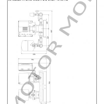 GRUNDFOS HYDRO MULTI-E CRE1-13 ARTICULO 99132328 MOTOR MOB_005