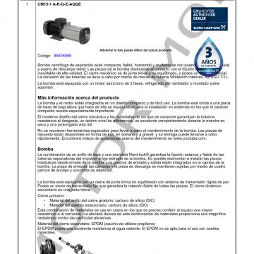 GRUNDFOS CM15-1 ARTICULO 96806998 MOTOR MOB_001