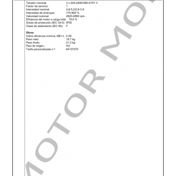 GRUNDFOS CM15-1 ARTICULO 96806998 MOTOR MOB_003