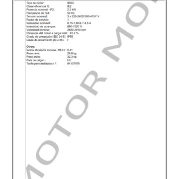 GRUNDFOS CM25-1 ARTICULO 96987878 MOTOR MOB_003