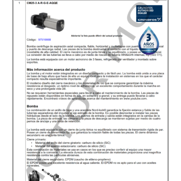 GRUNDFOS CM25-3 ARTICULO 97516668 MOTOR MOB_001