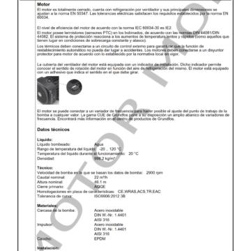 GRUNDFOS CM25-3 ARTICULO 97516668 MOTOR MOB_002