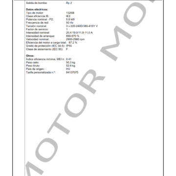 GRUNDFOS CM25-3 ARTICULO 97516668 MOTOR MOB_003