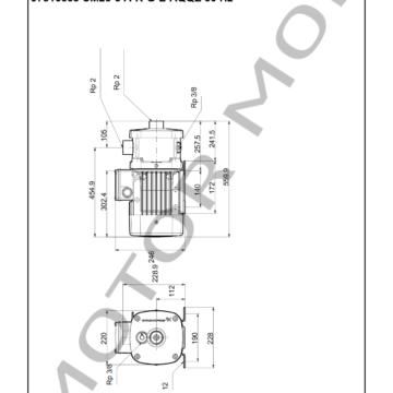 GRUNDFOS CM25-3 ARTICULO 97516668 MOTOR MOB_007