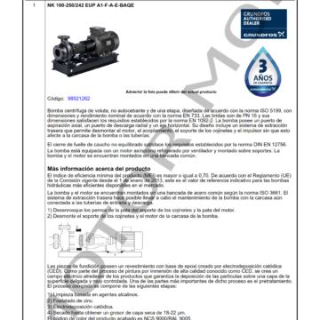 GRUNDFOS NK 100-250242 ARTICULO 98921262 MOTOR MOB_001