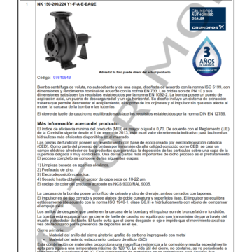 GRUNDFOS NK 150-200 ARTICULO 97619543 MOTOR MOB_001