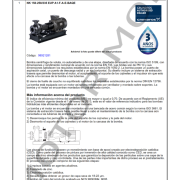GRUNDFOS NK 150-250235 ARTICULO 98921281 MOTOR MOB_001