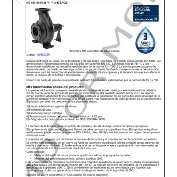 GRUNDFOS NK 150-315 ARTICULO 96882330 MOTOR MOB_001