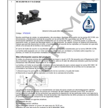 GRUNDFOS NK 65-200198 ARTICULO 97829240 MOTOR MOB_001