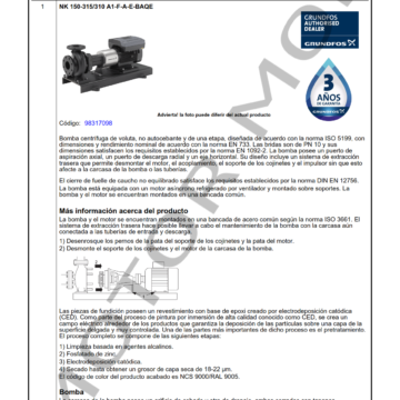 GRUNDFOS NK150-315310 ARTICULO 98317098 MOTOR MOB_001