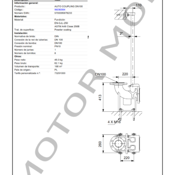 GRUNDFOS DN 100 ARTICULO 96090994 MOTOR MOB_002
