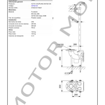 GRUNDFOS DN150125 para rango S ARTICULO 96782145 MOTOR MOB_002