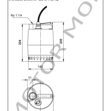 GRUNDFOS KP350-M-1 ARTICULO 013N6300 MOTOR MOB_005