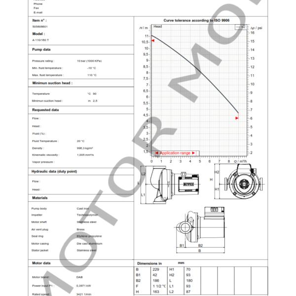 BOMBA DAB A 110 – 180 t – Circuladora – Trifasica – Art 505808601_001