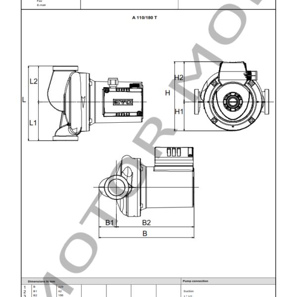 BOMBA DAB A 110 – 180 t – Circuladora – Trifasica – Art 505808601_003
