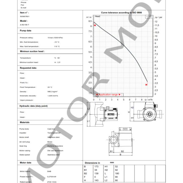 BOMBA DAB A 80 – 180 T – Circuladora – Trifasica – Art 505807601_001