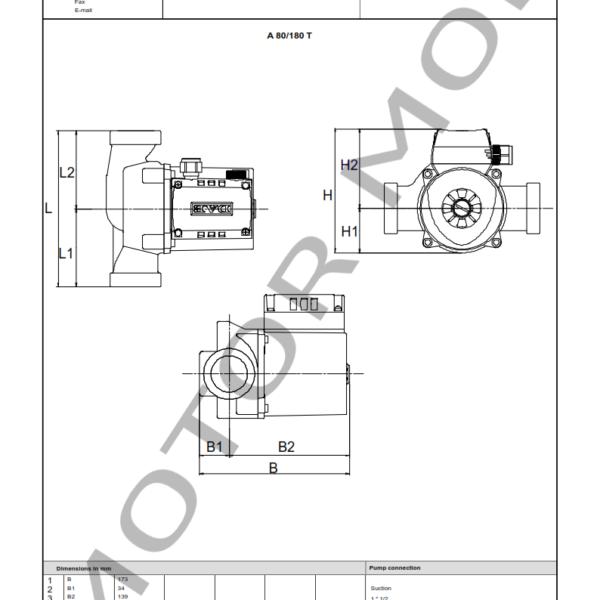 BOMBA DAB A 80 – 180 T – Circuladora – Trifasica – Art 505807601_003