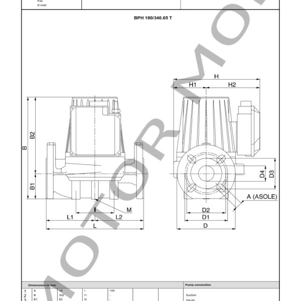 BOMBA DAB BPH 180 – 340.65 T – Circuladora – Trifasica – Art 505949622_003