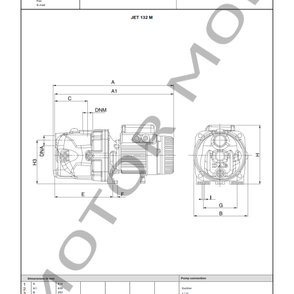 BOMBA DAB JET 132 M – Circuladora – Monofasica – Art 102660100_003