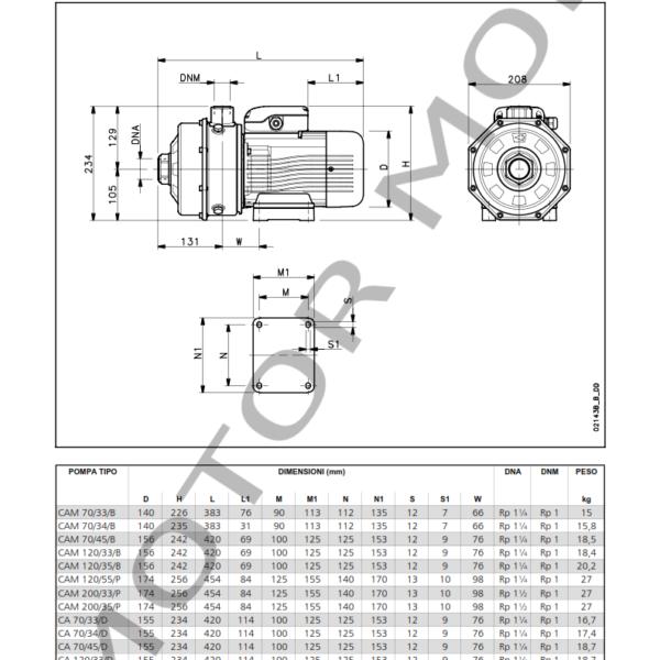 LOWARA – CA 200-33, 200-35 – BOMBAS ONLINE_006